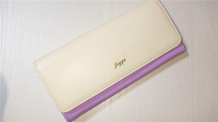 紫と白の財布